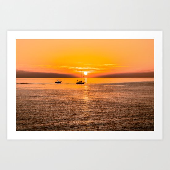 Finish of the day Art Print