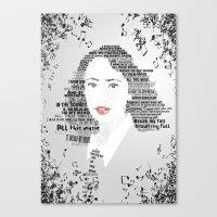regina mills Canvas Prints featuring Regina by Ganooosh