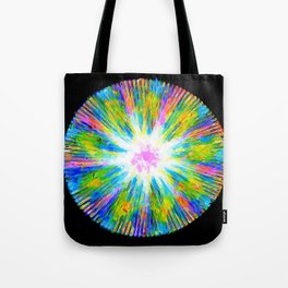 Looking at the Sky Throug a Clearing in an Alien Forest Tote Bag
