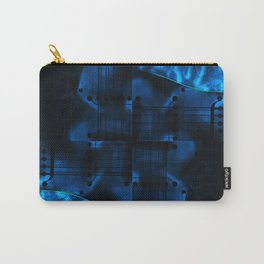 Night Spin Blue Carry-All Pouch