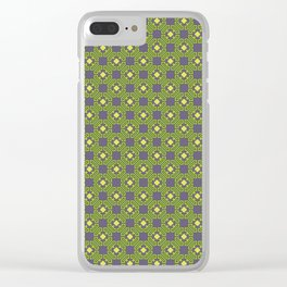 Digital Circuits Geometric Seamless Pattern Clear iPhone Case