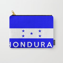 Honduras country flag name text Carry-All Pouch