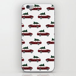 Christmas station wagon estate car holiday winter vacation vintage cars iPhone Skin