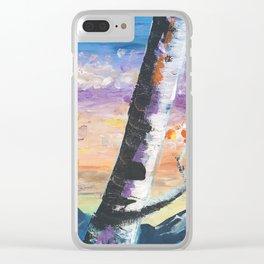 Aspens (I) Clear iPhone Case