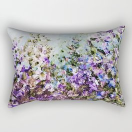 Floral Garden Impressionism in Pretty Purple Rectangular Pillow