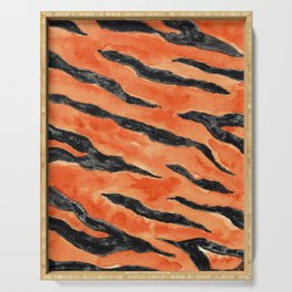 Tiger Stripes (Orange/Black) Serving Tray