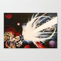 dbz Canvas Prints featuring DBZ Galaxy by DrewzDesignz