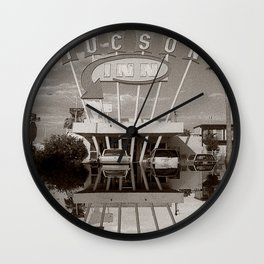 The Tucson Inn Vintage Hotel Neon Sign Wall Clock