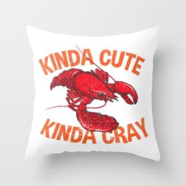 Boil Craw Fish Design Seafood Lover Party Gift Throw Pillow