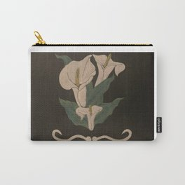 White Calla Lillies Carry-All Pouch