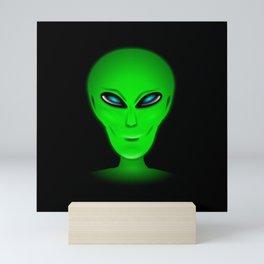 Green Alien Head Mini Art Print