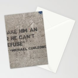 Corleone's offer. Stationery Cards