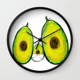 Baby Avocado we Love You Wall Clock