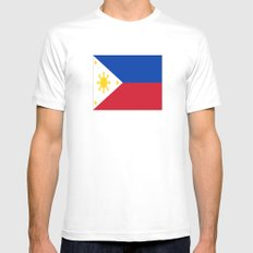 flag of philippines Mens Fitted Tee MEDIUM White