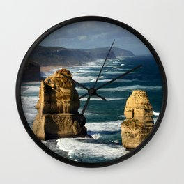 Limestone Rock Stacks & Headlands Wall Clock