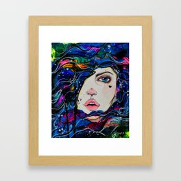 Kaimana- The ocean girl Framed Art Print