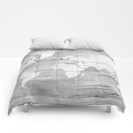 Design 119 Grayscale World Map Comforters