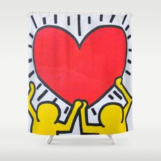 Graphic design and humor shower curtains page 7 of 35 - Keith haring shower curtain ...