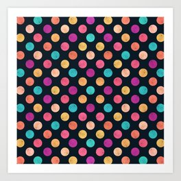 Watercolor Dots Pattern VI Art Print