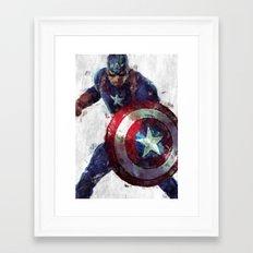 CaptainAmerica Framed Art Print