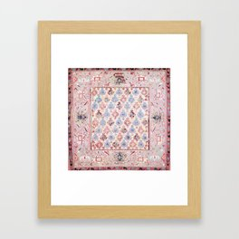 North Indian Dhurrie Kilim Print Framed Art Print