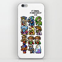 final fantasy iPhone & iPod Skins featuring Final Fantasy II Characters by Nerd Stuff