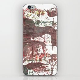 Deep Taupe abstract watercolor iPhone Skin