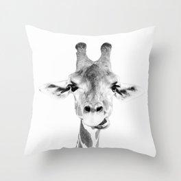 Hey Giraffe Throw Pillow