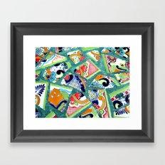 All the Colours of the Rainbow Framed Art Print