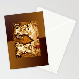 Brother Dogs Bronze Stationery Cards
