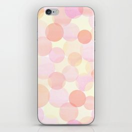 Pink and coral-red dots overprint pattern iPhone Skin