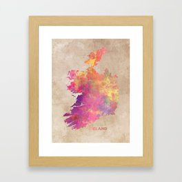 Ireland map #ireland #map Framed Art Print