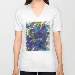 Blue Butterfly Poppy Unisex V-Neck