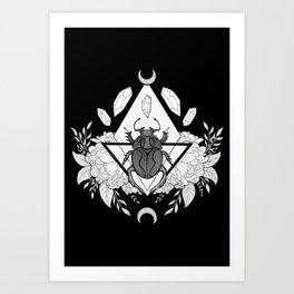 Scarab Queen // Black & White Art Print
