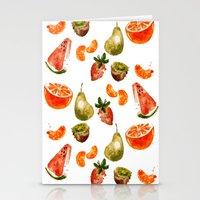 fruits Stationery Cards featuring Fruits by Jenny Viljaniemi