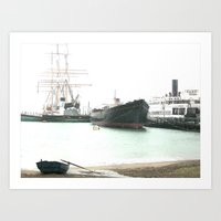 ships Art Prints featuring Ships by Voyage