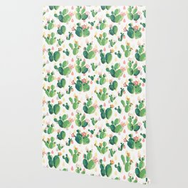 Cactus pattern Wallpaper