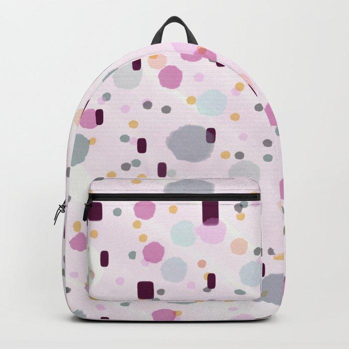 Watercolor Splash Effect Pattern Backpack