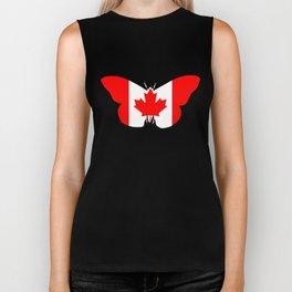 Canada Butterfly Biker Tank