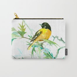 Baltimore Oriole Birds and White Oak Carry-All Pouch
