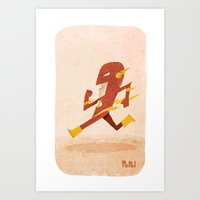 flash Art Prints featuring Flash by Popol