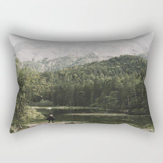 In silence - landscape photography Rectangular Pillow