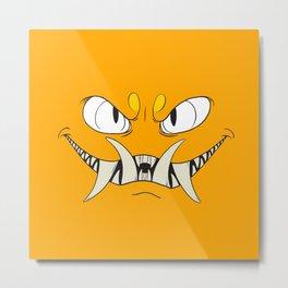 Yellow-Orange Monster Metal Print