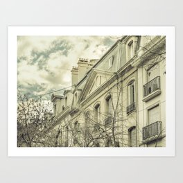 Neoclassical Style Buildings in Buenos Aires, Argentina Art Print