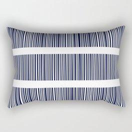 Blue- White- Stripe - Stripes - Marine - Maritime - Navy - Sea - Beach - Summer - Sailor 6 Rectangular Pillow