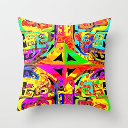 Caos and order, in vivid collors Throw Pillow
