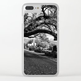 Treeful Cementery Clear iPhone Case