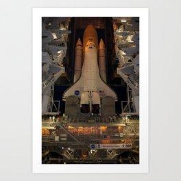 661. Space Shuttle Atlantis Art Print
