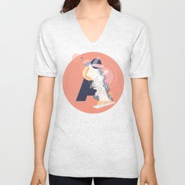 A (Pattern-Infected Type) Unisex V-Neck