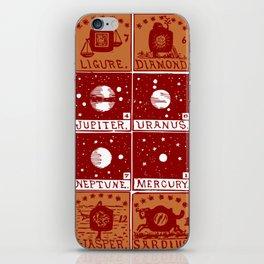 Twelve precious stones iPhone Skin